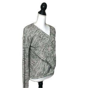 Anthro Hem & Thread Knit Criss Cross Sweater